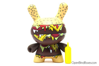 Twelve Car Pileup Mustard Burger Dunny Series 4 Front