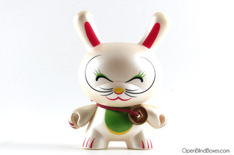 Shane Jessup Fortune Cat Closed Eyes Series 4  Kidrobot Dunny Front