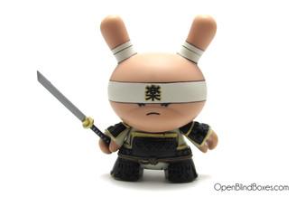 Very Serious Samurai Black Gold Life Dunny Huck Gee Kidrobot Front