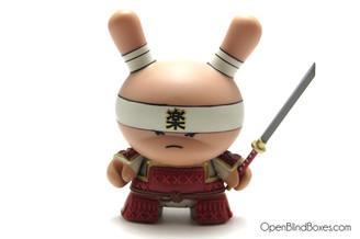 Very Serious Samurai Red Gold Life Dunny Huck Gee Kidrobot Front