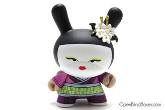 Geisha Plum Huck Gee Gold Life Dunny Kidrobot Front