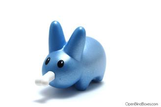Happy Labbit Shiny Blue Bone Frank Kozik Kidrobot Left