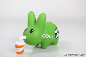 Green Soccer Gol Happy Labbit Frank Kozik Left