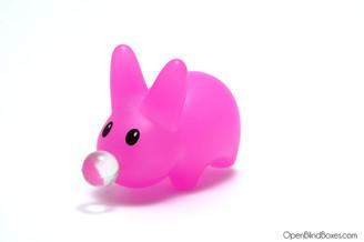 Pink Bubble Happy Labbit Frank Kozik Kidrobot Left