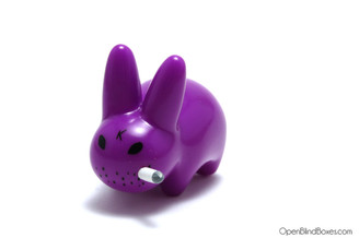 Glossy Purple Mini Smorkin Labbit Fried Chicken Frank Kozik Left