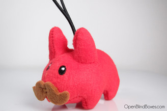 Red Plush Mini Labbit Kidrobot Front