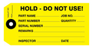 IT 1005 Hold - Do Not Use! Tags - Yellow