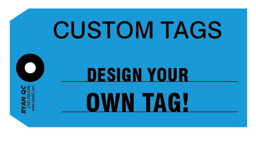 CTS Custom Tags 13 Pt. Card Stock Available in Standard and Fluorescent