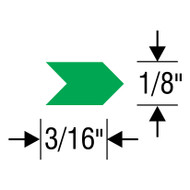"#2 Inspection Arrows Sheets (3/16"" x 1/8"") VINYL"