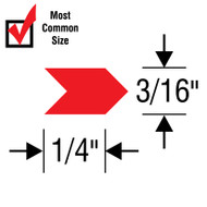 "#3 Inspection Arrows Sheets(1/4"" x 3/16"") VINYL"