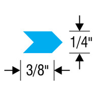 "#4 Inspection Arrows Sheets (3/8"" x 1/4"") VINYL"