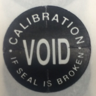"TTP1011 3/4"" Calibration Void if Seal is Broken - Tamper Proof Seal"