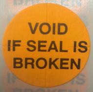 "1"" Orange Void If Seal Is Broken - Tamper Proof Seal"