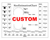 Custom charts (Transparency) for defects and measuring and quality control
