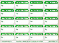 SL 1001-NL Accepted By Labels - Green NO LINES
