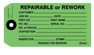 IT 1003 Repairable or Rework Tags - Dark Green