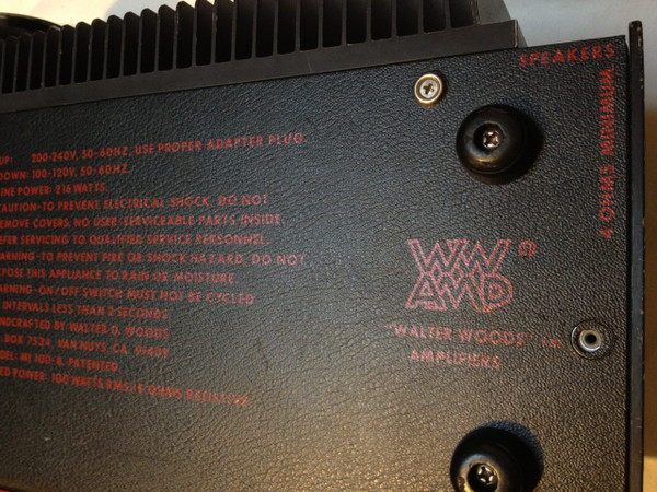 Used Walter woods amp MI 100-8 SOLD