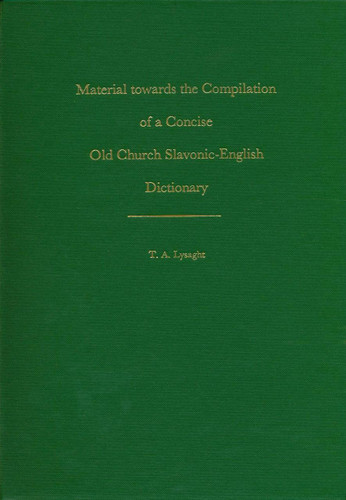 Old Church Slavonic–English Dictionary