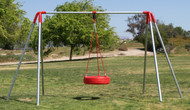 H6T - Heavy 6' High - Tire Swing - 1 Bay - Commercial
