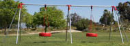 H6T2 - Heavy 6' High - Tire Swing - 2 Bay - Commercial