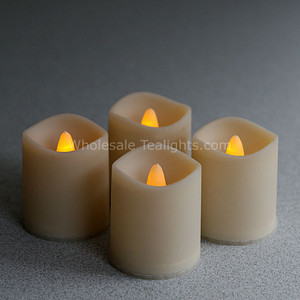 Outdoor Set of 4 LED Flameless Votives  - Timer