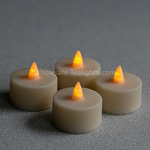 Outdoor Set of 4 LED Flameless 1.5 Inch Tealights  - Timer