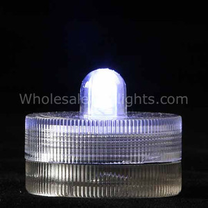 White Waterproof Submersible Tea Light - 10 Pack