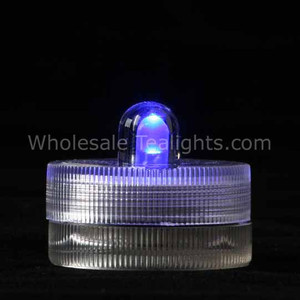 Blue Waterproof Submersible Tea Light - 10 Pack