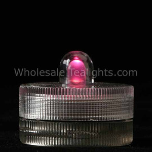 Pink Waterproof Submersible Tea Light - 10 Pack