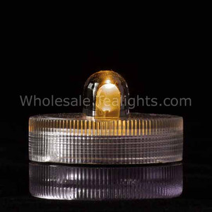 Amber Waterproof Submersible Tea Light - 10 Pack