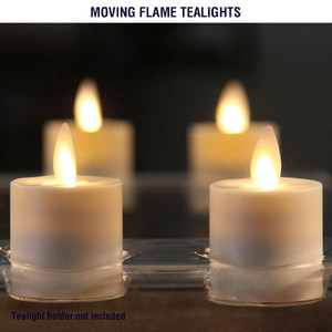 Tealights with Realistic Moving Flame Technology
