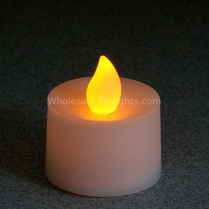 Flickering Amber Flameless TeaLight Candles - 12 Pack