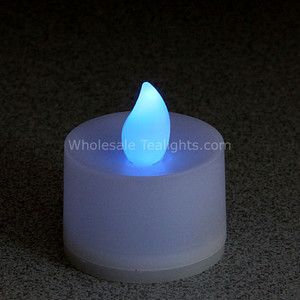 Flickering Blue Flameless TeaLight Candles - 12 Pack