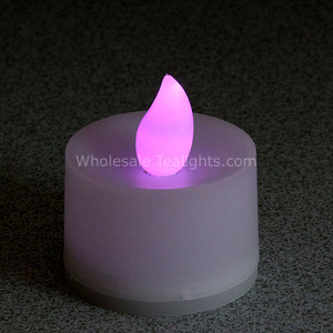 Flickering Purple Flameless TeaLight Candles - 12 Pack