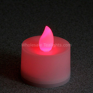 Flickering Red Flameless TeaLight Candles - 12 Pack