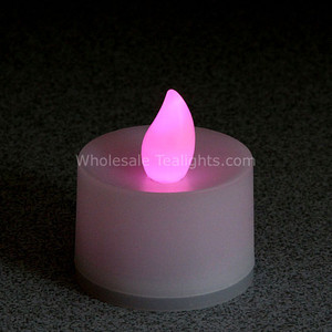 Non - Flicker Pink Flameless TeaLight Candles - 12 Pack