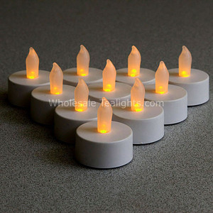 LED Flameless Flickering Tealights - 10 Pack
