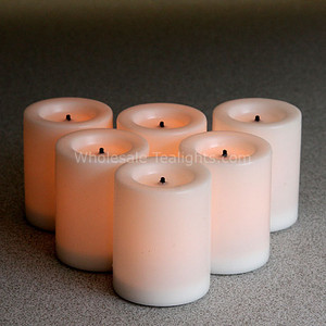 1.75 Inch Wax LED White Votives - 6 Pack
