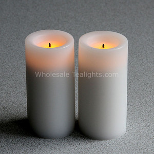 3 Inch Wax LED White Votives Candle - 2 Pack