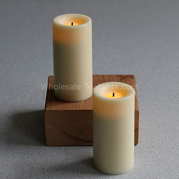 3 Inch Wax LED Cream Votives Candle - 2 Pack
