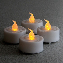 Set of 4 LED Flameless Tealights  - Timer