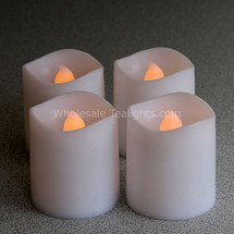 LED Flameless Wavy Votives  Set of 4 - Timer