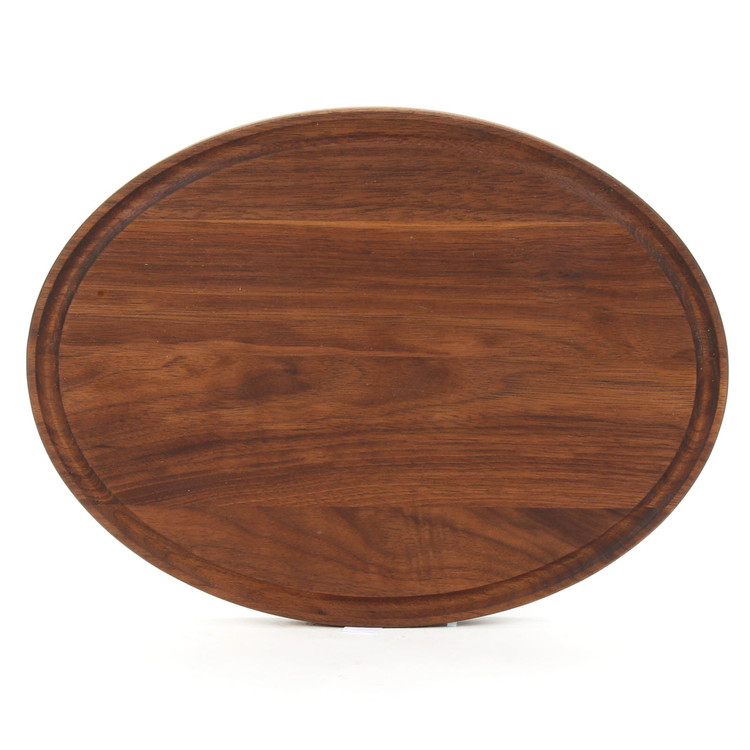 9 x 12 Oval Walnut Cutting Board