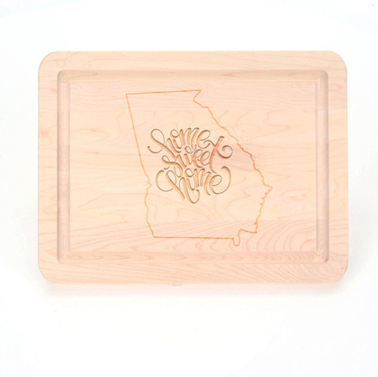 Home State Laser Engraved 9 x 12 Rectangle Maple Cutting Board