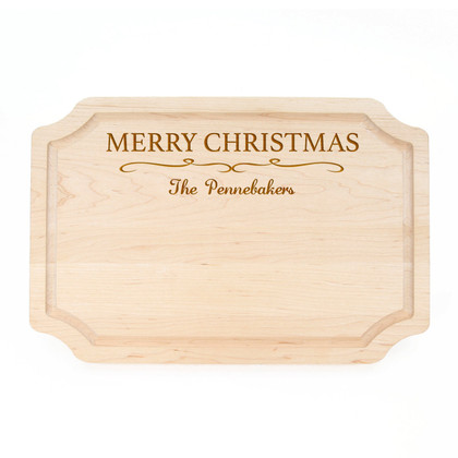 Personalized Christmas Cutting Board - Family Name