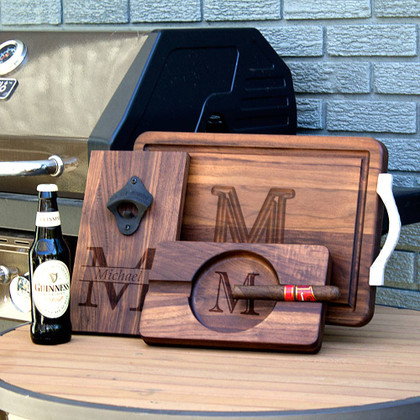 walnut-personalized-engraved-wood-gift-cutting-board-cigar-ashtray-bottle-opener