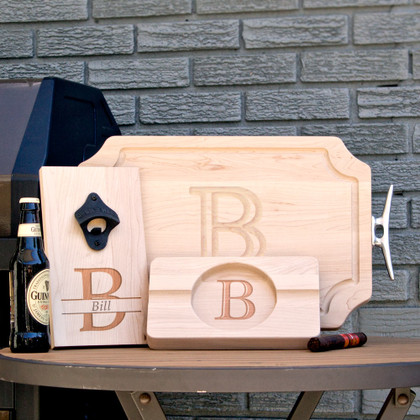 maple-personalized-engraved-wood-gift-cutting-board-cigar-ashtray-bottle-opener-fathers-day