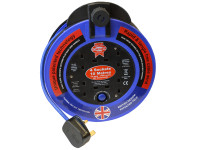 Faithfull Power Plus Fast Rewind 4 Socket Cable Reel 10 Metre 3120 Watt 13 Amp| Duotool