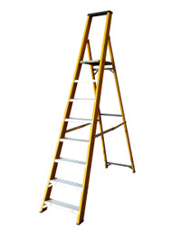 Lyte GFBP8 8 Tread Fibreglass Ladder from Duotool