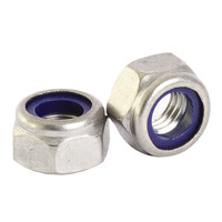 M16 Bright Zinc Hex Nuts with Nylon Inserts | Duotool